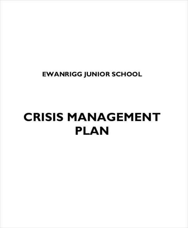 school crisis management plan