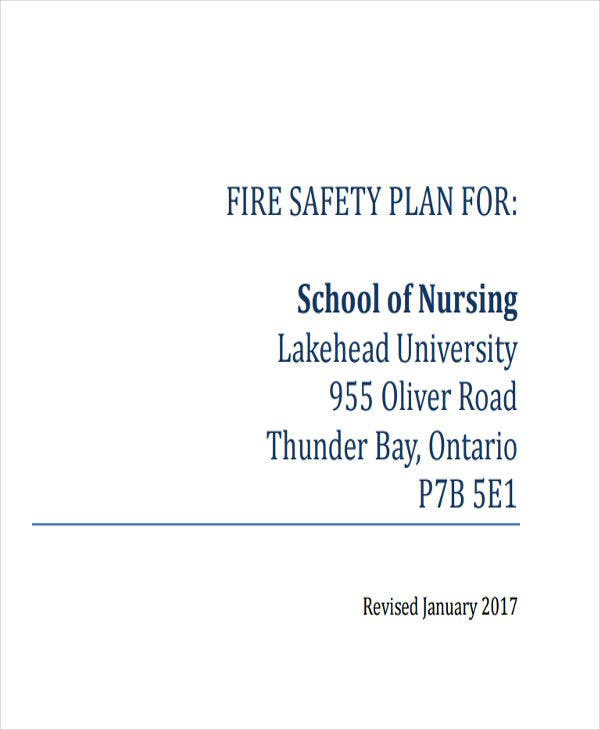 school fire safety plan