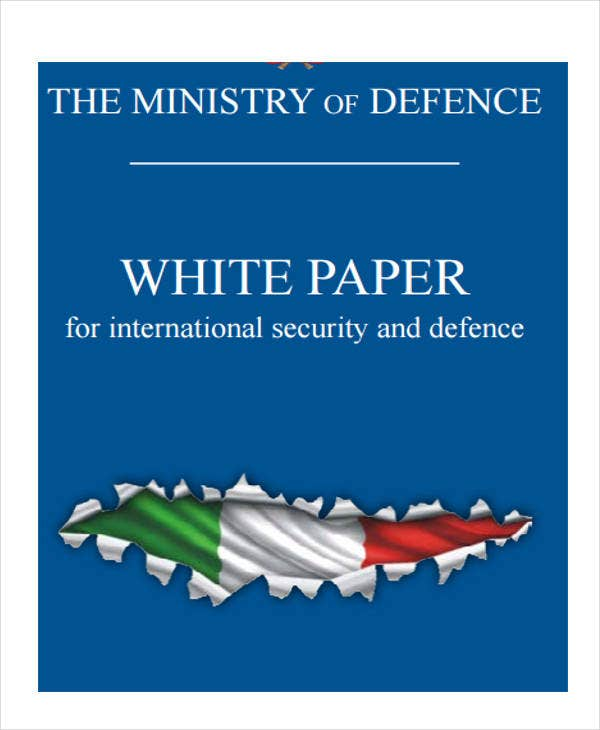 security defense white paper