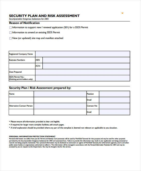 Security Assessment Template: 31+ Risk Assessment Templates In PDF