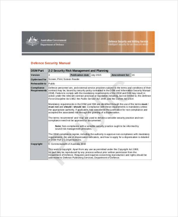 security risk management plan