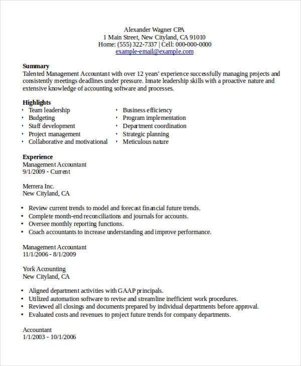 24 accountant resume templates in pdf free premium templates