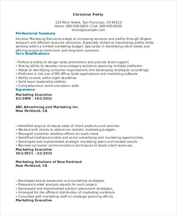 senior marketing executive resume1