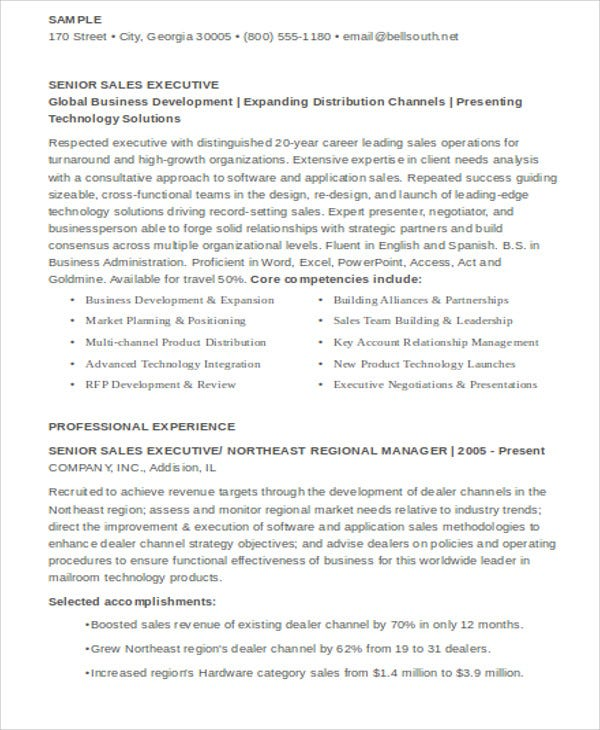 senior sales executive resume1