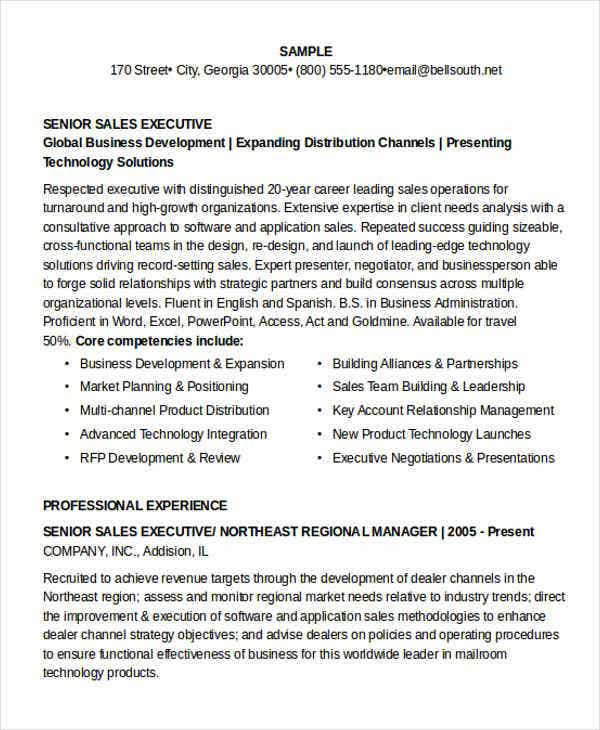 senior sales executive resume2