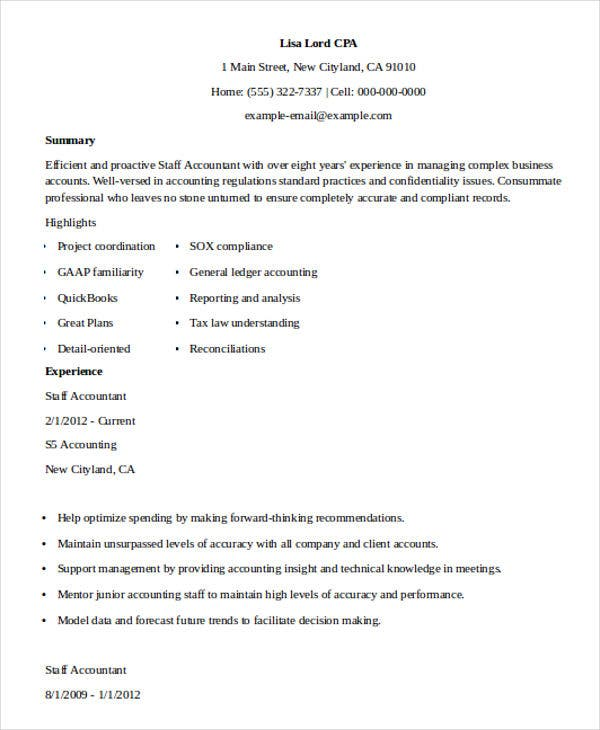 24+ Accountant Resume Templates In PDF