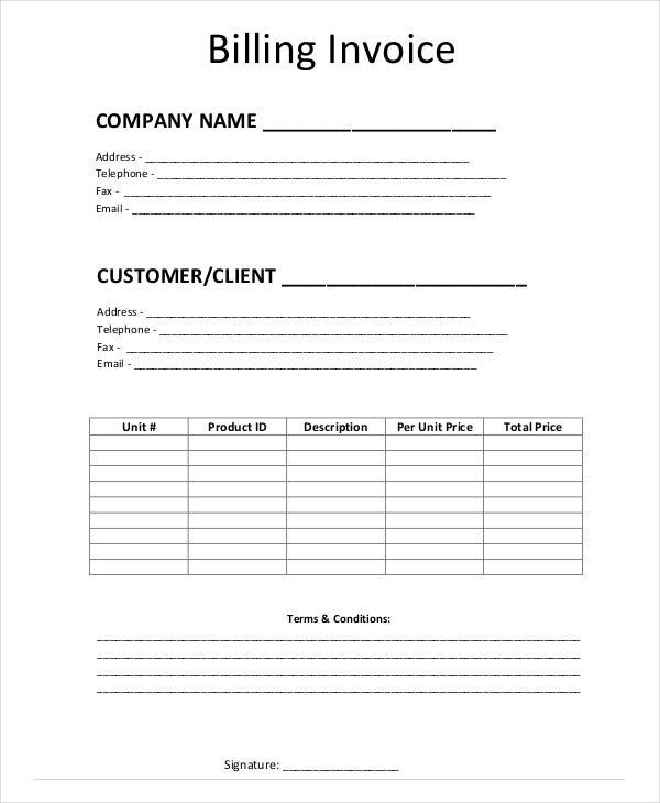Simple Invoice Templates - 11 Free Word, Pdf Format Download