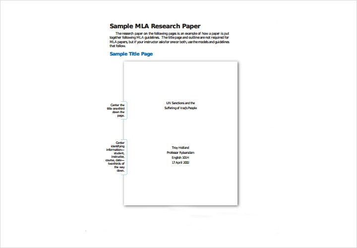 simple mla research paper