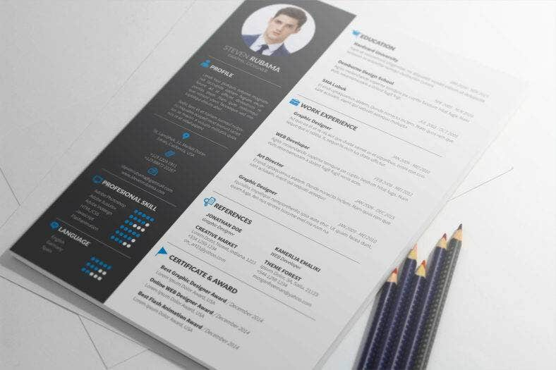 simple non traditional resume 788x525