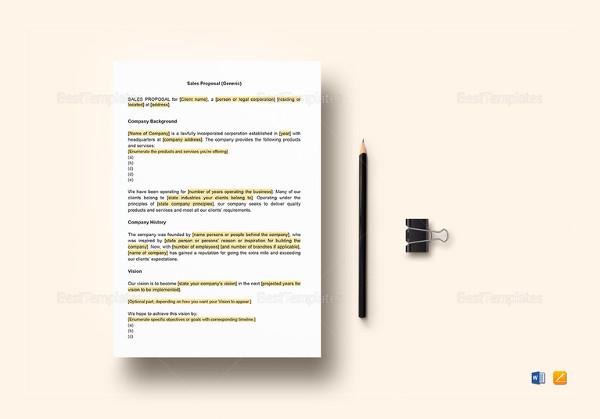 accounting proposal sample
