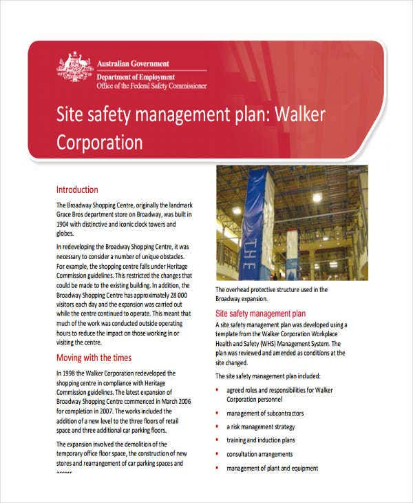 site safety management plan