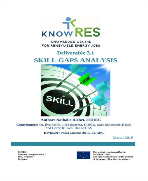skills gap analysis sample