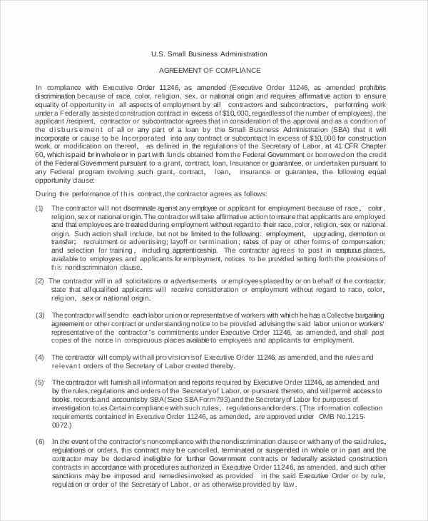 Administration agreement templates 9 free word pdf format small business administration wajeb Choice Image