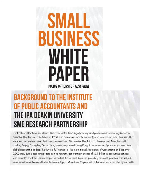 Small Business White Paper Template
