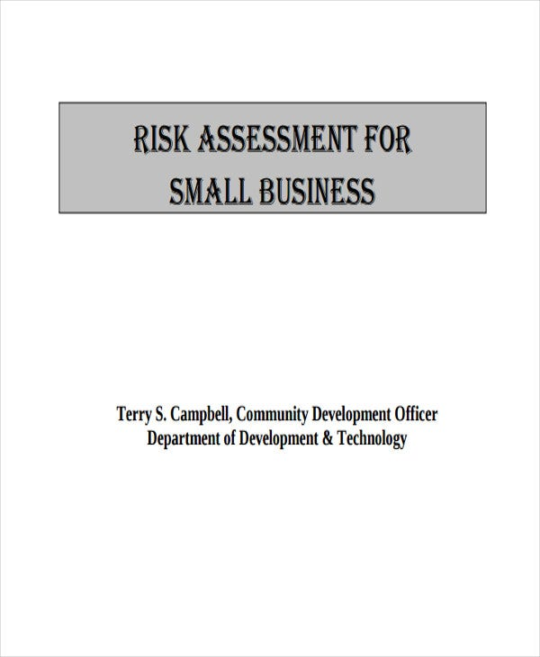 21 best assessment templates free premium templates risk assessment for small business gov details file format accmission