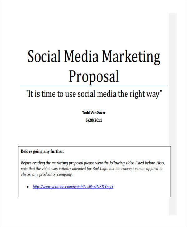 social media marketing proposal1