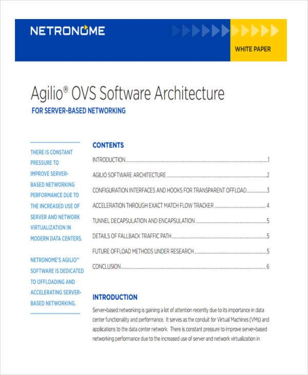 software architecture white paper