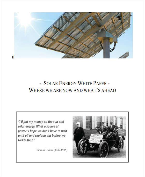solar energy white paper