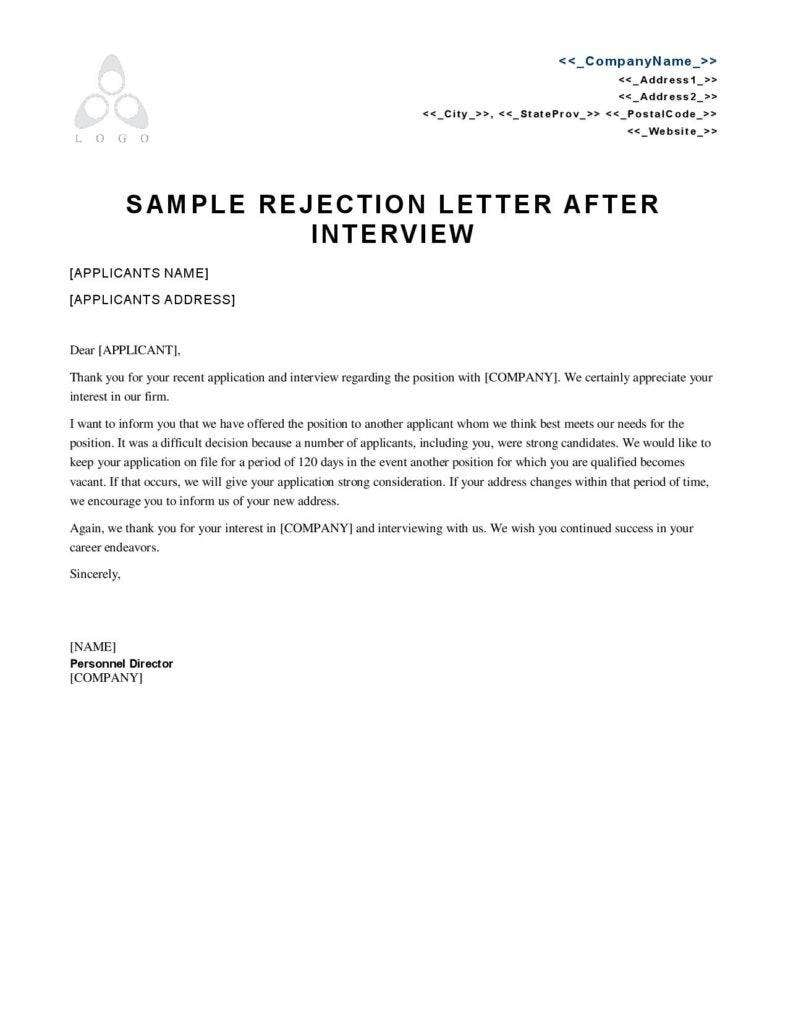 interview rejection letter 3 reasons employment rejection letters matter free 1333