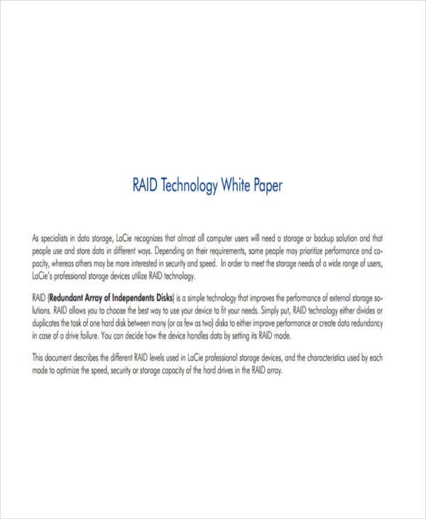standard technology white paper