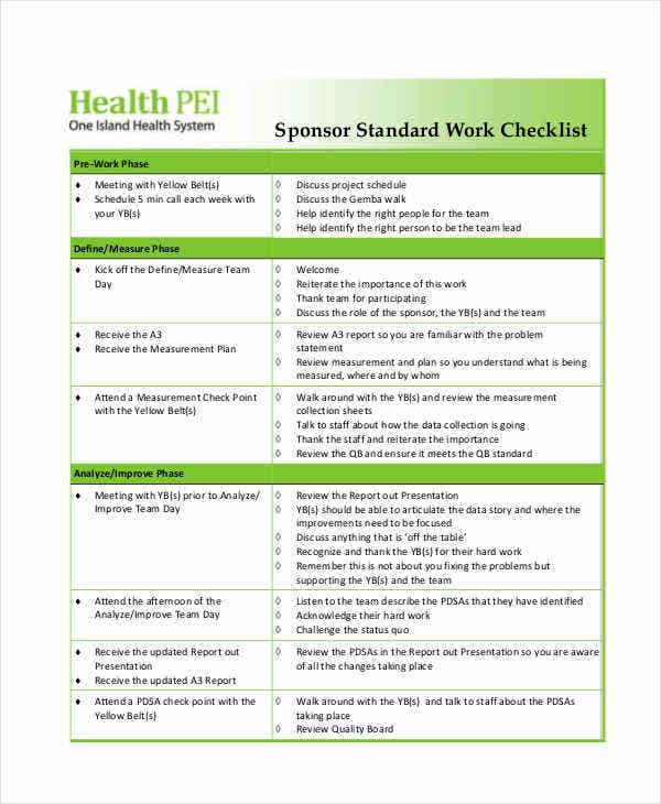 work checklist templates 8 free samples examples format download