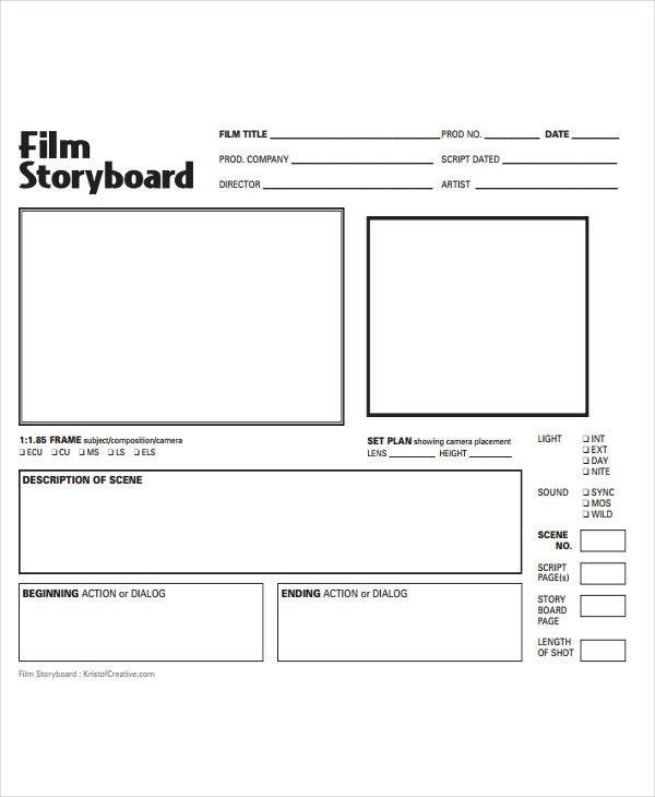 storyboard for simple film