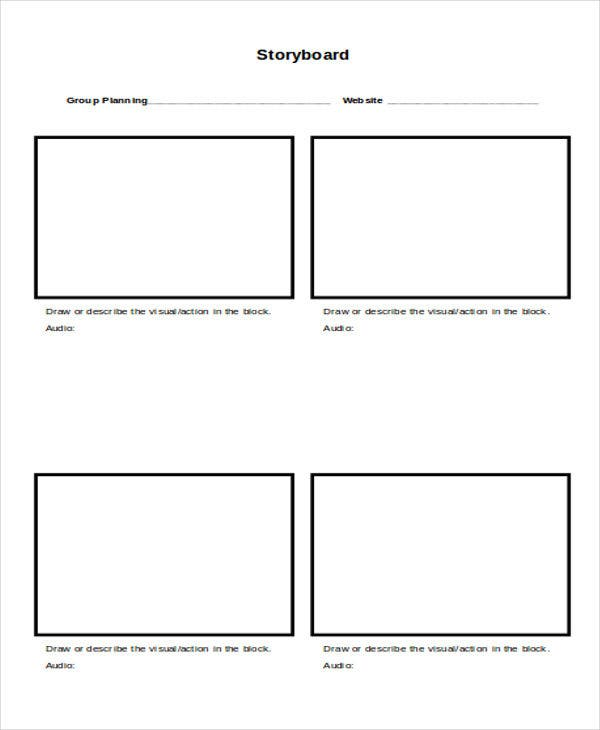 storyboard for website planning