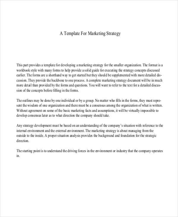 6 strategy paper templates free samples examples format