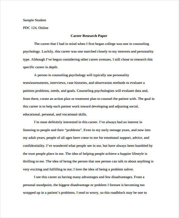 Research Paper Templates In Pdf  Free  Premium Templates