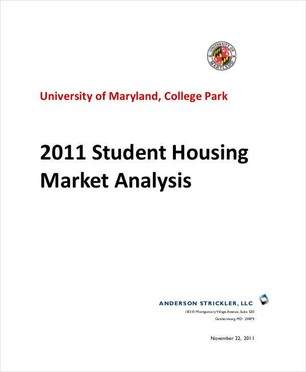 student housing market analysis