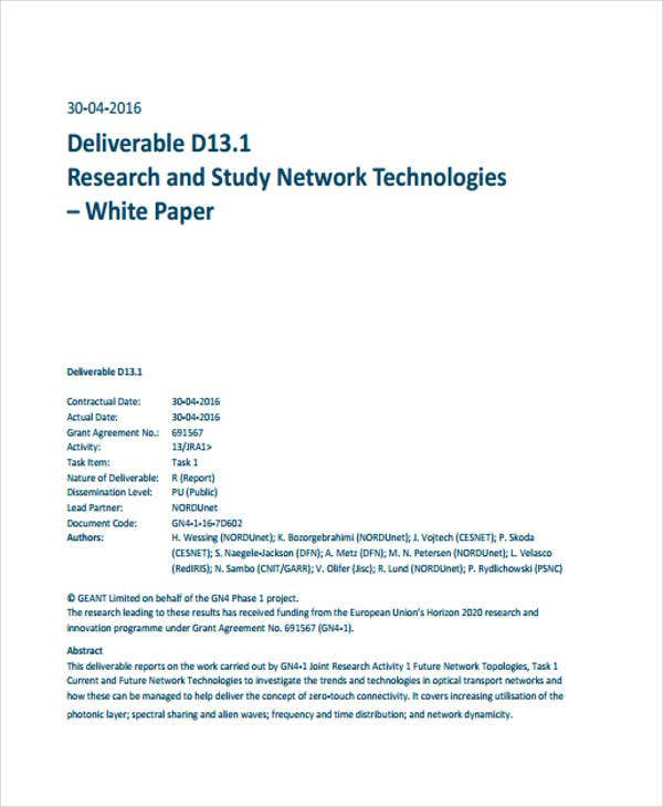 study network technology white paper
