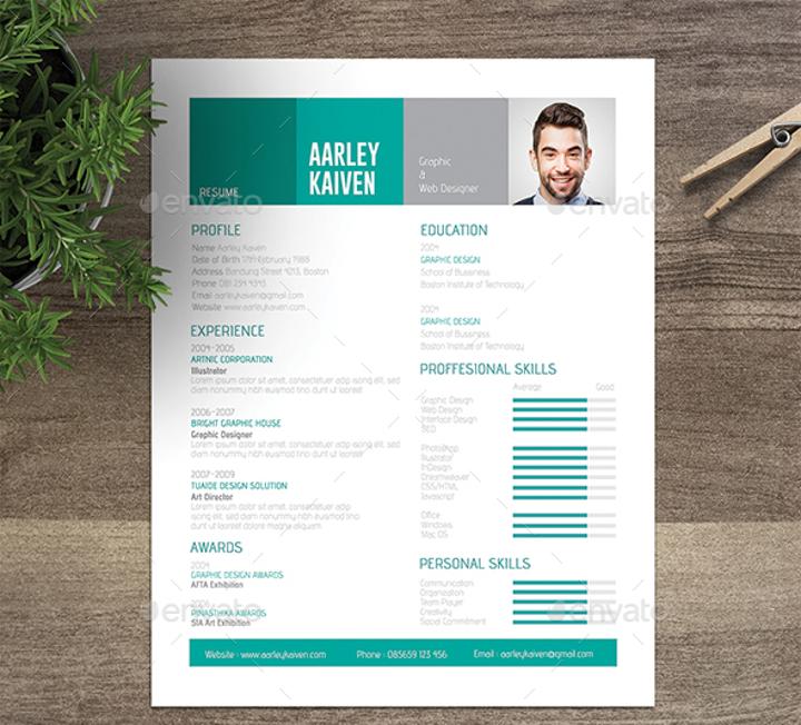 stylish nontraditional resume