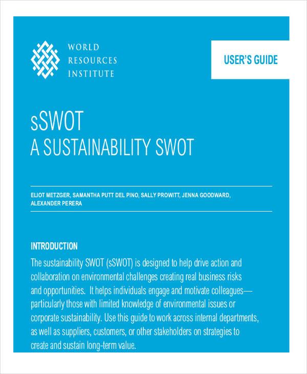 sustainability swot analysis