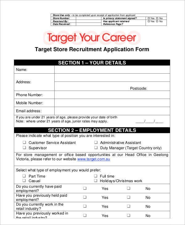 Target Store Recruitment Application