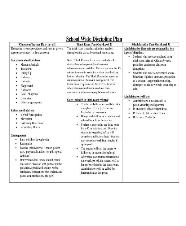 teacher classroom management plan