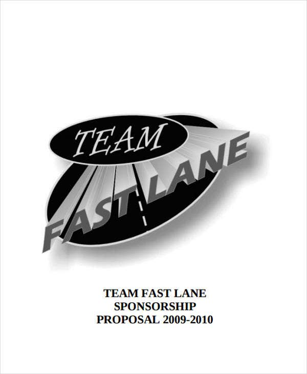 team lane sponsorship proposal