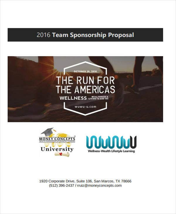 team sponsorship proposal example
