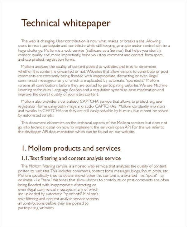 technical product white paper