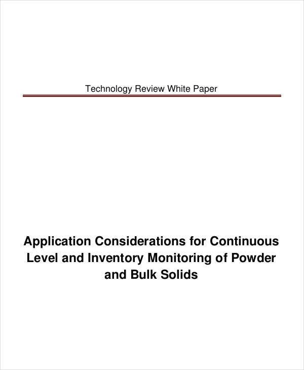 technology review white paper