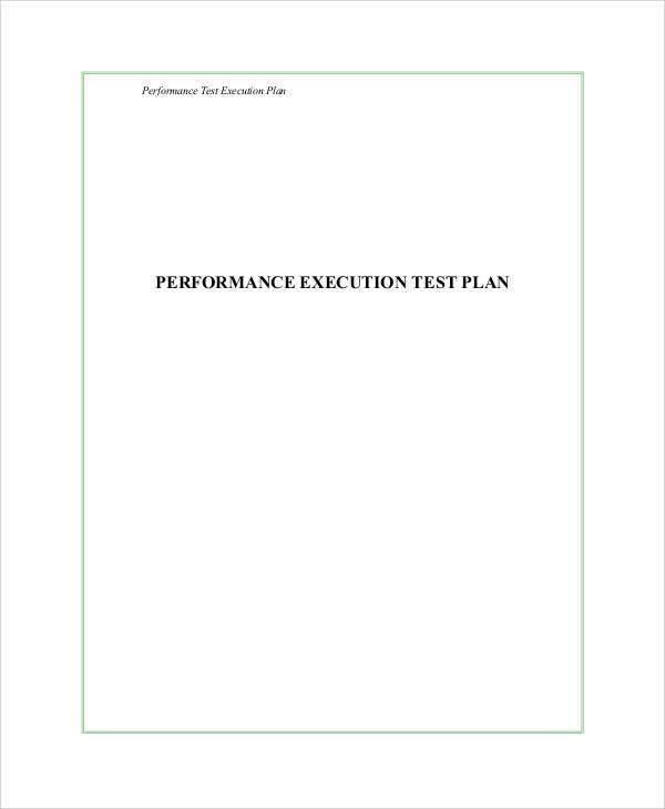 test execution plan