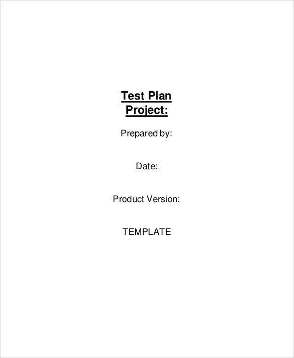 test plan for project