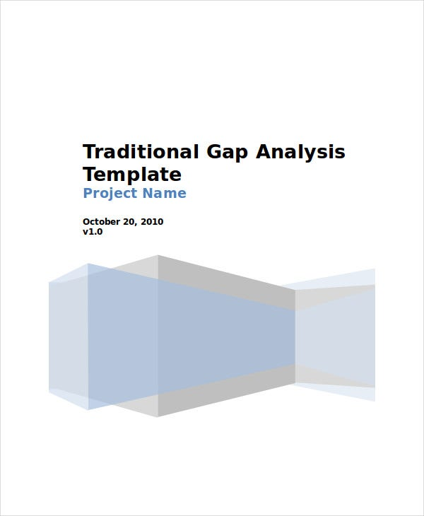 traditional gap analysis