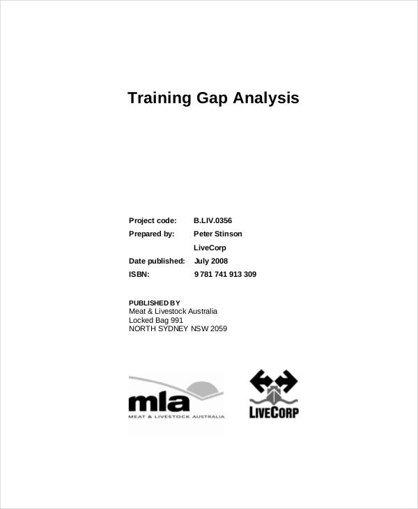 training gap analysis