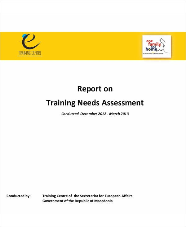 Sample Of Training Needs Assessment Report