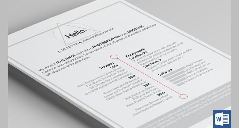 triangle resume template