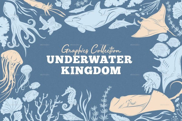 underwater kingdom graphics toolkit illustration