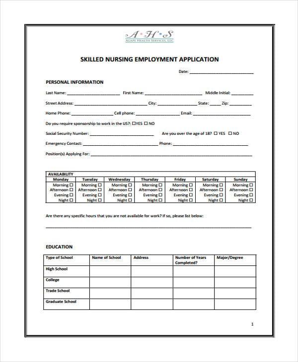 untitjob application for nurseled