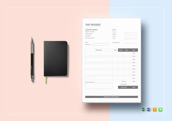 6 Vat Invoice Templates Sample Example Free Premium Templates