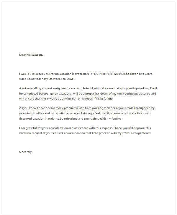vacation leave request letter1
