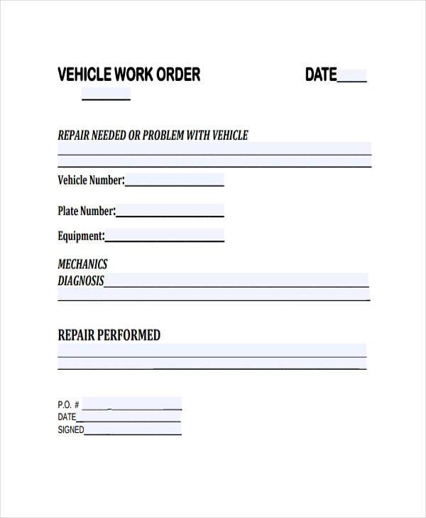 28  work order templates